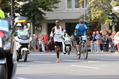 Winnaar van Berlin Marathon in 2018 Stock Foto