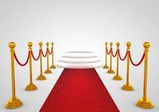 Winnaarpodium met rood tapijt Royalty-vrije Stock Afbeelding