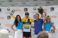 Winnaars en sponsors Stock Foto's