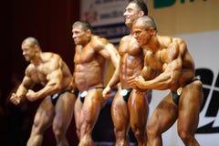 Winnaars van Open Kop van het bodybuilding van Moskou Royalty-vrije Stock Fotografie