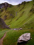 Winnats Pass. In the Peak District, Derbyshire, England, UK Stock Photos