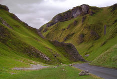 Winnats Pass. In the Peak District, Derbyshire, England, UK Royalty Free Stock Photos