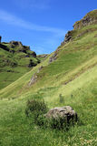 Winnats Pass near Castleton in Derbyshire. Royalty Free Stock Photo