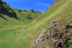Winnats Pass near Castleton in Derbyshire. Royalty Free Stock Photos