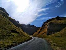 winnats przełęczy Wysoki szczyt Derbyshire england zdjęcie stock