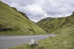 Winnatspas, Piekdistricts Nationaal Park, het UK stock afbeelding