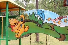 Winneie Pooh характеры на теме парка Стоковое Фото