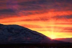 Winnemucca solnedgång Arkivfoto