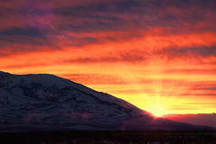 Winnemucca Sunset Stock Photo