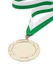 Winnende medaille Stock Afbeeldingen