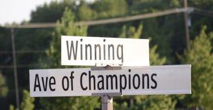 Winnende Weg van Kampioenen royalty-vrije stock foto's