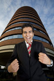 Winner. Angry businessman screaming like crazy...he is really upset Royalty Free Stock Image