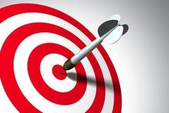 Winner. Arrow on red target - business concept vector illustration