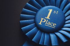 Free Winner 1st Place Blue Ribbon For Rewarding Royalty Free Stock Images - 155389589