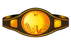 Winner. Isolated illustration of a box champion's belt Royalty Free Stock Photo