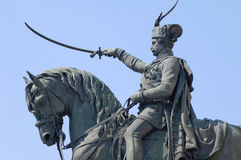 Winner. Detail of the Ban Jelacic monument in Zagreb, Croatia Royalty Free Stock Photography