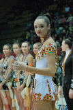The winner. Anna Bessonova during rewarding of winner of competition Derigina Cup – Naftogaz Royalty Free Stock Photography
