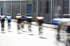 Winner. Cyclists in the Cape Argus race in Cape Town Royalty Free Stock Images