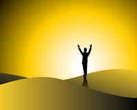 Winner. Cheering person symbolic of success or winner Stock Image