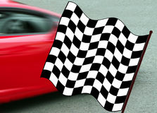Winner. Chequered flag for the winner Stock Images