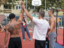 The, winner is, Amateur competitions of street workout Royalty Free Stock Photography