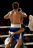 Winner Amateur and Professional Boxing. Amateur male amateur and professional boxers fight in Phoenix, Arizona, USA, at the Celebrity Theatre, November 30, 2012 stock images