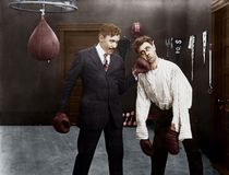 Free Winner And Loser In Boxing Match Stock Image - 52003551