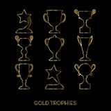 Winner award cup. Vector cup flat goblet icon set Stock Photography