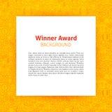 Winner Award Paper Template. Vector Illustration of Outline Design Stock Images