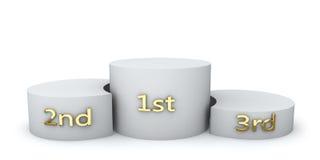 Winner award round podium Royalty Free Stock Photography