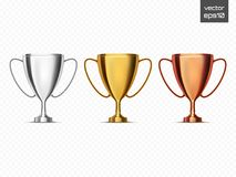 Winner background. Trophy Cups . Vector illustration Stock Image