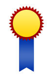 Winner Badge or Ribbon. A winner's badge or ribbon.  Created blank for personal use Royalty Free Stock Photo