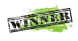 Winner black and green stamp on white background. Winner black and green  stamp Royalty Free Stock Photography