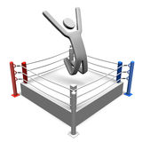 Winner On Boxing Ring Royalty Free Stock Photography