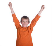 Winner boy Royalty Free Stock Photos