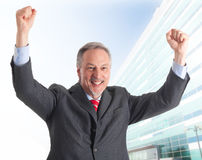 Winner businessman Stock Photography