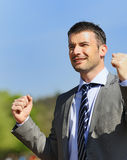 Winner businessman Stock Image