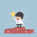 The Winner Businessman Stock Images