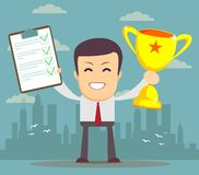 Winner businessman Royalty Free Stock Photography