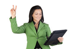 Winner businesswoman Stock Photography