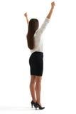Winner businesswoman in formal wear Stock Photography