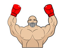 Winner, champion of boxing. Strong man on white background. Body Royalty Free Stock Photo
