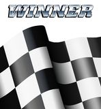 WINNER Checkered, Chequered Flag Motor Racing. Background for Poster, Leaflet, Flyer Stock Image