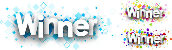Winner colour banners. Stock Photography