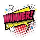 Winner! Comic Speech Bubble. Vector Eps 10. Royalty Free Stock Photo