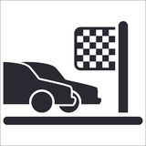Winner competition car icon Royalty Free Stock Image