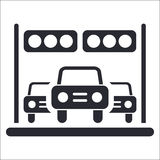 Winner competition car icon Royalty Free Stock Photos