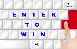 Winner concept keyboard Royalty Free Stock Image