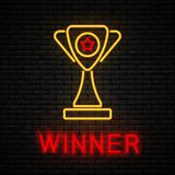 Winner concept neon royalty free illustration