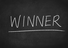 Winner. Concept word on blackboard background Royalty Free Stock Photography